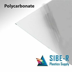 Clear Polycarbonate Sheet 24 X 48 X 1 8 Lexan Makrolon Vacuum Forming