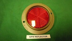 Jeep Willys Ford Gpw Early Ford Script Reflector F Guide A2 G503