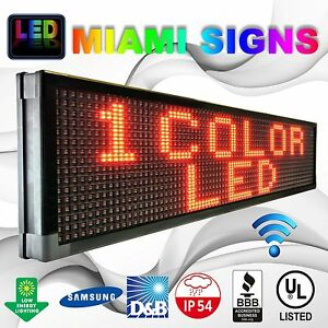 Led Sign 13 X 100 Outdoor Wi fi Connection Hd 10mm Led Display Red Made In Usa