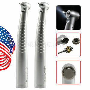 2 Dental Led Fiber Optic High Speed Handpiece Standard Fit Kavo Multiflex Lux