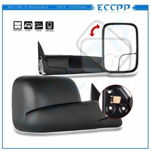 Left Right 98 01 Dodge Ram 1500 98 02 2500 3500 Flipup Power Heated Tow Mirrors