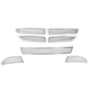 2011 2016 Dodge Journey Se Chrome Upper Bumper Fog Stainless Mesh Grille 7pc Set