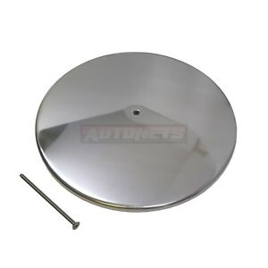 14 Round Polished Aluminum Smooth Plain Air Cleaner Lid Top Only Sbc Bbc Gm Rod