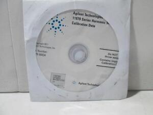 Agilent 11970 Series Harmonic Mixer Calibration Data Cd 11970 90034