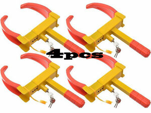4x Wheel Lock Clamp Boot Tire Claw Trailer Auto Car Truck Anti Theft Towing New