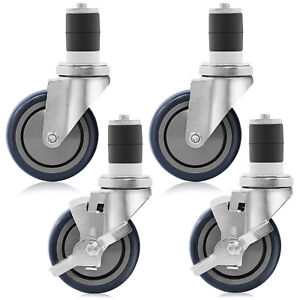 4 Caster Wheel Set For Stainless Steel Commercial Kitchen Prep Tables