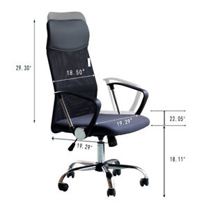 Ids Ergonomic Mesh High Back Executive Office Task Computer Desk Chair Black mat
