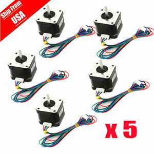 Us Ship 5pcs Osm 65ncm 92oz in Nema 17 Bipolar Stepper Motor 4 lead Hobby Cnc H