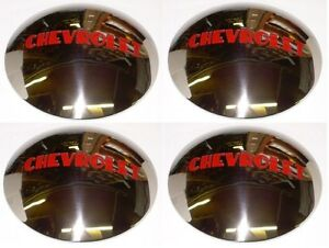 1947 1948 1949 1950 1951 1952 1953 Hub Caps 4 Stainless Chevrolet Chevy Truck