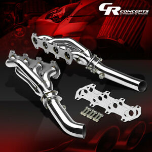For 04 10 Ford F150 5 4 V8 Stainless Exhaust Manifold Header mid Pipe gasket