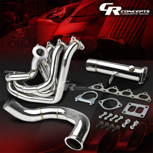 For Honda B Series B16 B18 T4 Top Mount Racing Turbo Charger Manifold Downpipe