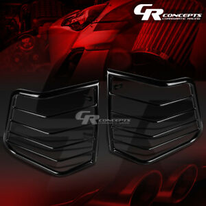 Pair Black Stainless Steel Tail Light lamp Guard mount For 05 10 Jeep Cherokee