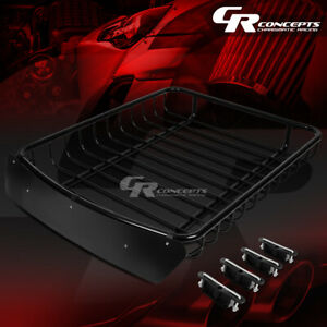 51 X 40 Roof Rack Top Cargo Luggage Carrier Basket Wind Fairing Deflector Black