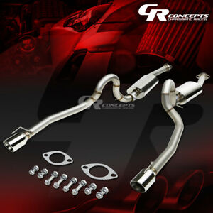 4 Dual Muffler Rolled Tip Catback Exhaust System For 96 04 Ford Mustang V8 Sn95