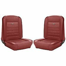 Ford Mustang Deluxe Pony Seat Trim Kit Dark Red 1966 66 Coupe Gt 289 High Perf