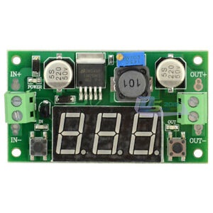Premium Lot 10 Dc dc Buck Step Down Converter Module Lm2596 W Led Voltmeter