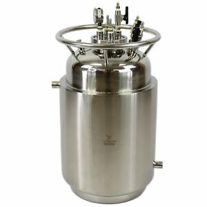 50 Jacketed Stainless Steel Lp Tank W Internal Condensing Coil And Dip Tube