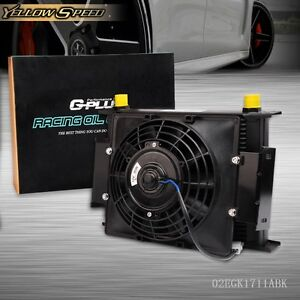 Us 28 Row 10an Universal Engine Transmission Oil Cooler 7 Fixed Cooling Fan Kit