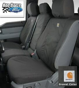 11 16 Super Duty Carhartt Seat Covers Gravel 40 20 40 Front Seat Water Repellent