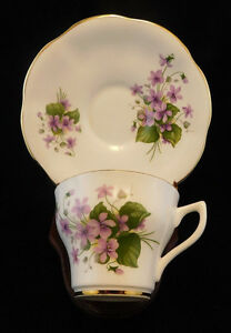 Vintage Rosina Bone China Made In England Tea Cup Saucer