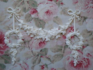 New Rose Swag Rose Wreath Drops Furniture Applique Architectural Pediment