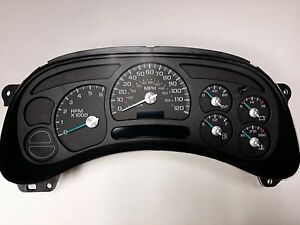 4s 03 04 2003 2004 Repaired Complete Silverado Instrument Cluster Gauge Panel
