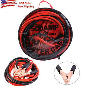 Heavy Duty 20 Ft 4 Gauge Booster Cable Jumping Cables Emergency Power Jumper New