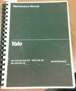 Yale Maintenance Manual