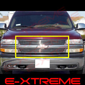 Billet Grille Grill For Chevy Silverado 1500 1999 2000 2001 2002 Upper