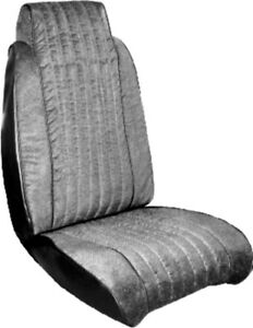 1981 Chevy Malibu Navy Blue Classic Bucket Seat Covers With Vinyl Inserts Pui