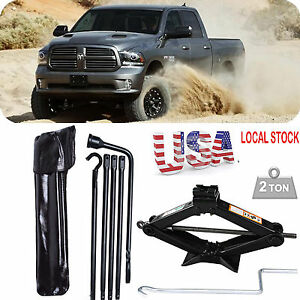 For 2002 2015 Dodge Ram 1500 Spare Tire Lug Wrench Tools 2 Tonne Scissor Jack