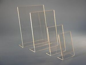 8 1 2 X 11 Acrylic Sign Holder Picture Frame 25 Pack