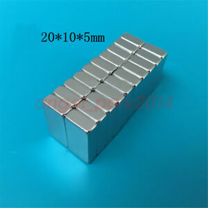 Wholesale 20mm X 10mm X 5mm Block Strong Rare earth Neodymium Magnets N50