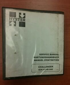 Hyster Challenger Forklift Service Manual H36 00 48e