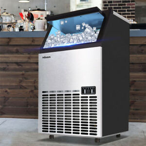 Commercial Undercounter 99 110lbs Ice Machine Maker 110v Wooden Box Coolest
