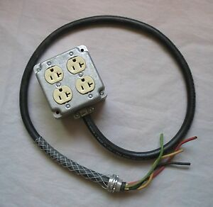 Carol Electrical Cord Cable 12 4 Type Sow a Stranded Copper Wire Pigtail Outlets