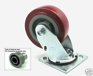 Caster Wheel 5 x2 For Tennant 5680 5700 7200 Rider Scrubber Rep Oem 222467