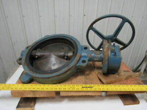 Dezurik Size 14 Butterfly Valve W manual Hand Wheel Actuated Master Gear 1266696