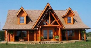 Modular Log Home Cape Cod 2 Dormers Log Siding With Full Log Corners Included