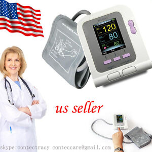 Auto Digital Arm Blood Pressure Monitor Heart Beat Meter Sphygmomanometer sw usa