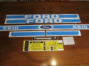 Ford Tractor Decal Set 6610 Stickers With Caution And Shifter Labels 1115 1561