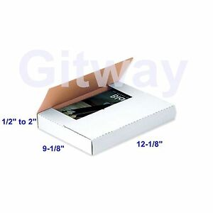 50 12 1 8 X 9 1 8 X 2 Multi Depth Cardboard Book Packaging Shipping Box Boxes