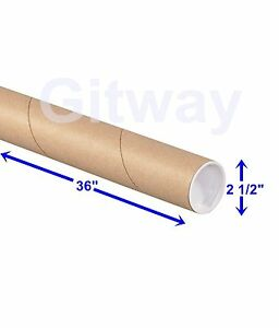 2 1 2 X 36 Cardboard Poster Shipping Mailing Mail Packing Postal Tube 34 Tubes