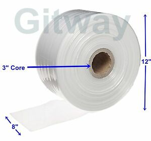 8 X 2150 Clear Poly Tubing Tube Plastic Bag Polybags Custom Bags On A Roll 2ml