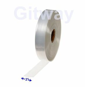 2 X 2150 Clear Poly Tubing Tube Plastic Bag Polybags Custom Bags On A Roll 2ml