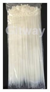 500 Set 14 Long Nylon Plastic White Wire Cable Loop Zip Tie Ty Ties Wraps 40