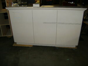 Kiosk Retail Counter White 1879 75 X 25 X 44