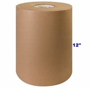 12 X 1200 Brown Kraft Paper Roll 30 Shipping Wrapping Packaging Cushioning