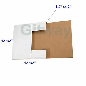 12 1 2 X 12 1 2 X 2 Multi Depth Cardboard Lp Album Record Mailer Shipping Boxes
