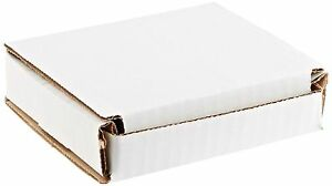 50 4x4x1 Small White Corrugated Cardboard Packaging Shipping Mailing Box Boxes